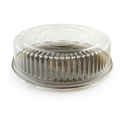 "12"" Clear Round Dome Lid 25/Case Fineline 9201-L"