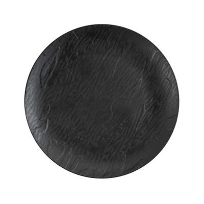 "Mahogany 7"" Black Plate 12/10 CS (3762)"