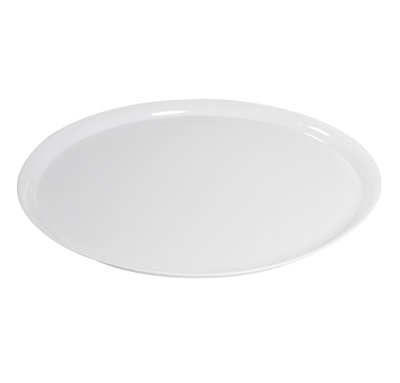 "Supreme 12"" Round Platter Cater Trays White 25/CS Fineline 7201-WH"