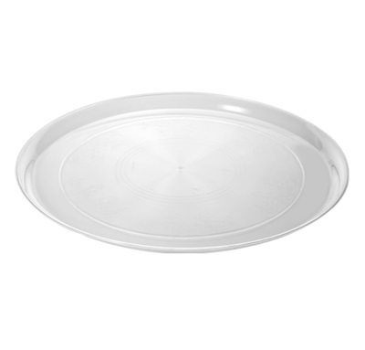 "Supreme 12"" Round Platter Cater Trays Clear 25/CS Fineline 7201-CL"