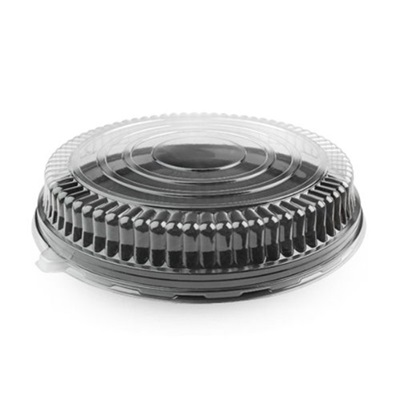 "12"" Clear Round Low Dome Lid 25/Case Fineline 9201-LL"