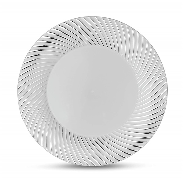 "Curve Series 10"" White/silver Plate Heavyweight 12/10 CT"