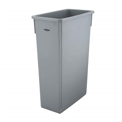 23 Gal Rectangle Slim Trash Can Gray PTC-23SG