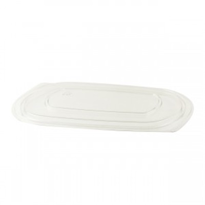 Microraves Clear Flat RPET Lid For Anchor Raves 16 Oz 252/CS
