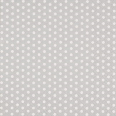 Silver Dots Cocktail Napkins 12/20 CT 279211