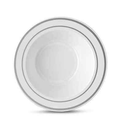 Classic Series 5 Oz White/silver Bowl 12/10 (CLS-B5S)
