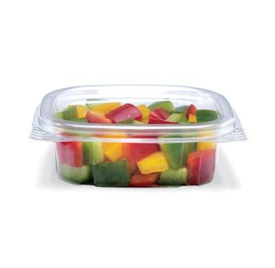 Crystal Seal Hinged 4 oz. Clear Container 400/CS