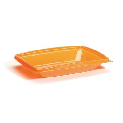 "Salad and Sandwich Two-piece, Tangerine Rectangle Base 10x7"" 400/CS DPI10X7TGB"