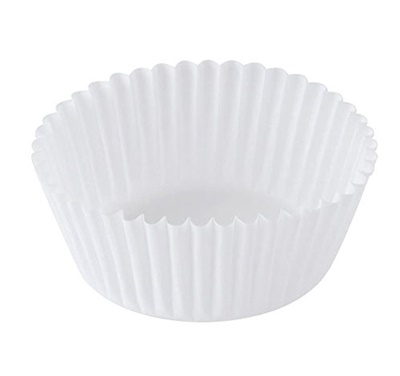 "Baking Cups 4 1/2"" Fluted White 20/500 CS TW450"