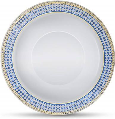 Midnight Blue 5 Oz Bowl White W/ Blue/gold Border 12/10 Ct (MB-B5-BG)