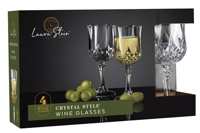 Crystal Style Wine Glasse 4 Pack 12/CS