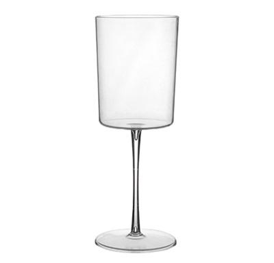 Wine Glass 1-Piece Clear Plastic Fineline 2811