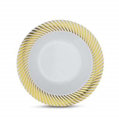 Curve Series 5 Oz White/ Gold Bowl 12/10 CT (CRV-B5G)