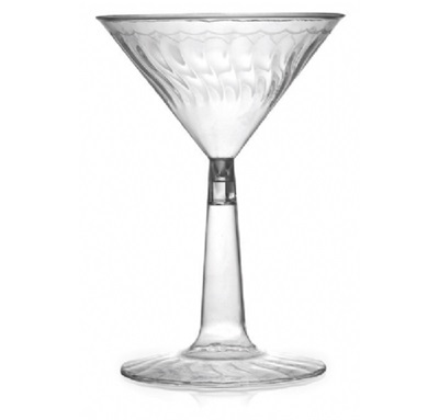 Flariware 6 Oz Clear Martini 12/12 Cs Fineline 2306