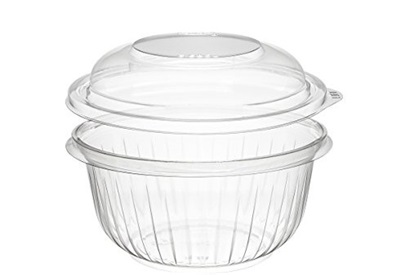 16 oz Clear PET Bowl with Dome Lid 250/CS Dart PresentaBowls PET16BCD