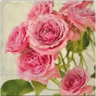 Pink Roses Lunch Napkin 12/20 CT (090400)