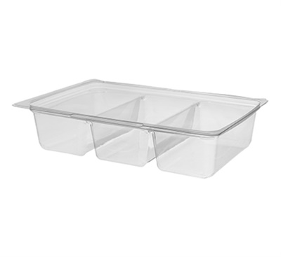 Benpack 3 Compartment Container 21 Oz 250/CS Cascades 738-L33