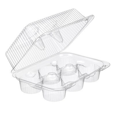 Cupcake Hinged Container 6 Compartment 300/CS INLINE SLP56