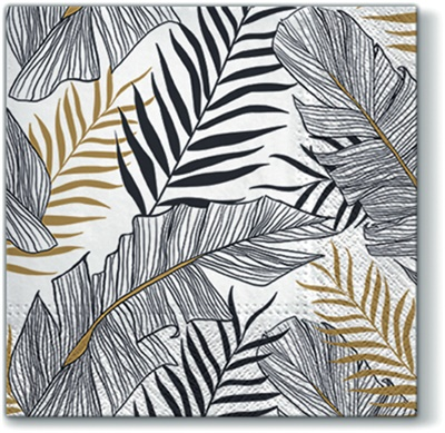Exotic Leaves Lunch Napkin 12/20 CT (120125)